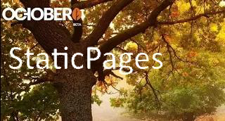OctoberCMS Static Pages